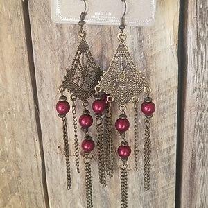 Super cute bronze dangle earrings